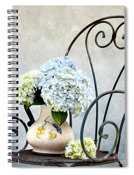 Hortensia Flowers Spiral Notebook by Nailia Schwarz