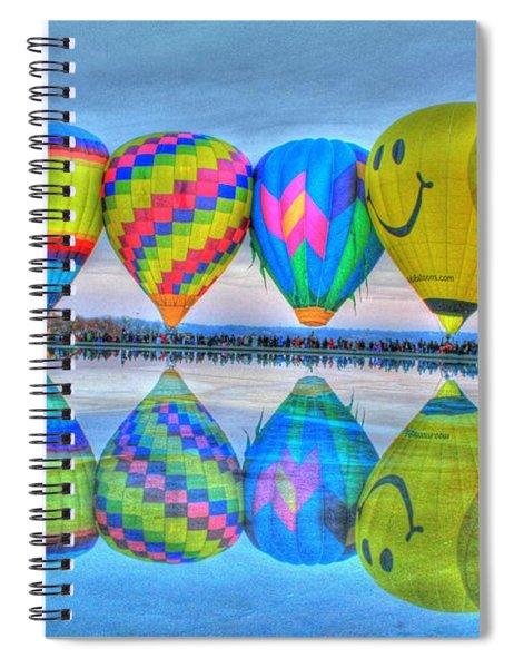 Hot Air Balloons At Eden Park Spiral Notebook