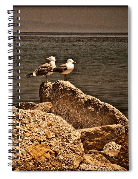 Afitos, Greece - I Think We're Alone ... Spiral Notebook