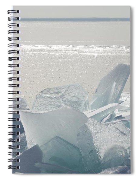 Ice Chunks On The Shores Of Lake Spiral Notebook