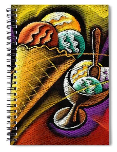 Icecream Spiral Notebook