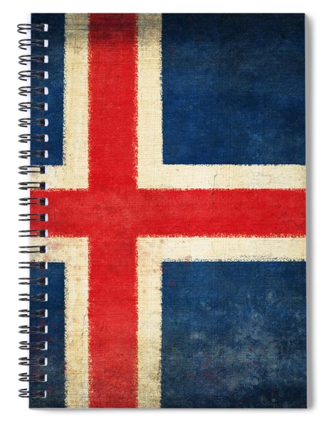 Iceland Flag Spiral Notebook