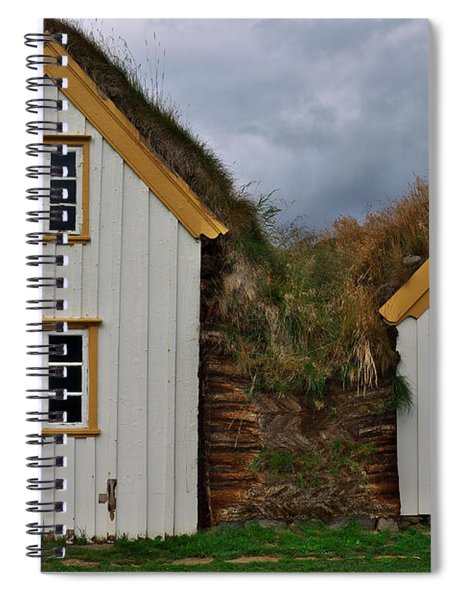 Icelandic Turf Houses Spiral Notebook
