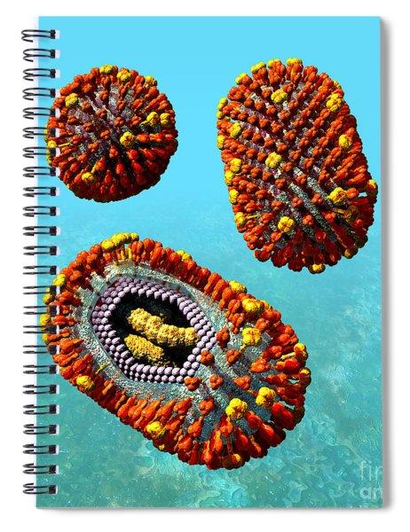 Influenza Virus Scene 1 Spiral Notebook