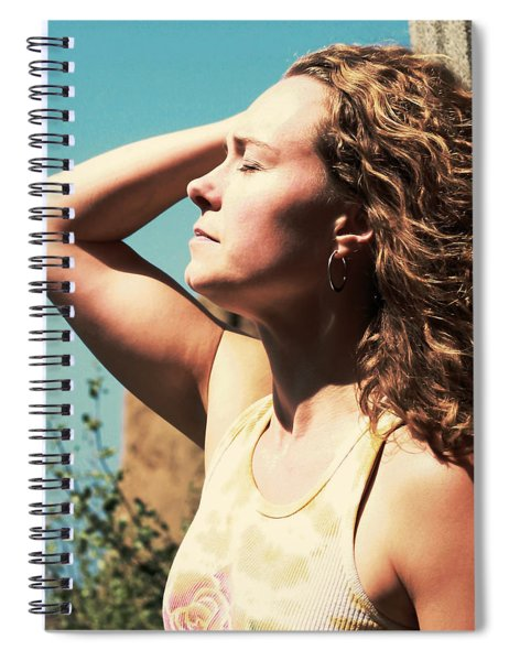 Spiral Notebook featuring the photograph Into The Sun by Lorraine Devon Wilke