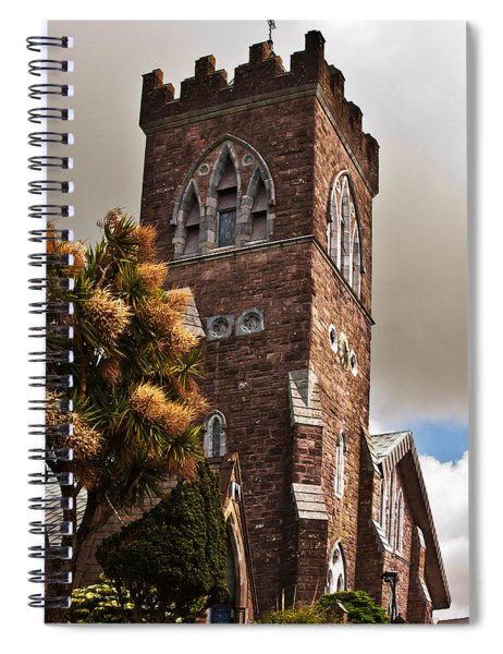 Spiral Notebook featuring the photograph Irish Church by Edward Peterson
