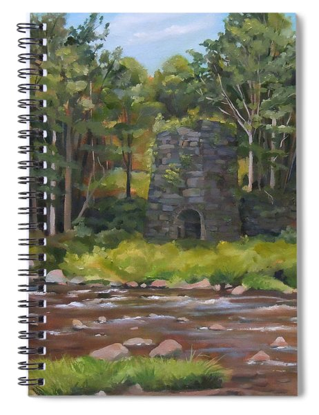 Iron Furnace Of Franconia New Hampshire Spiral Notebook