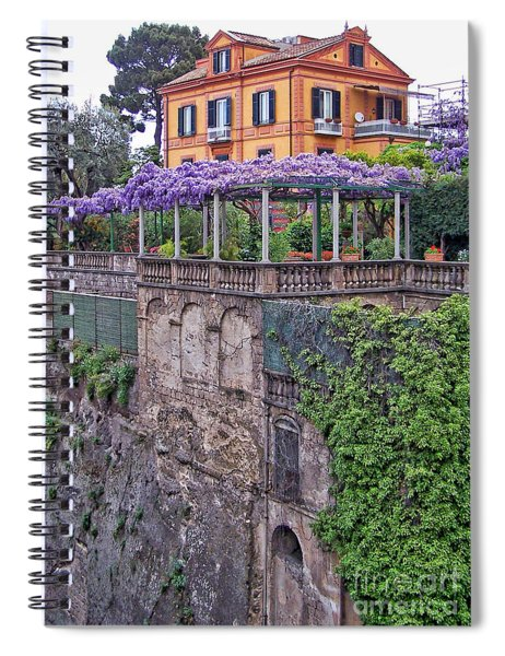 Italian House With Wisteria Vine Spiral Notebook