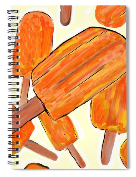 Its Raining Dreamsicles Spiral Notebook