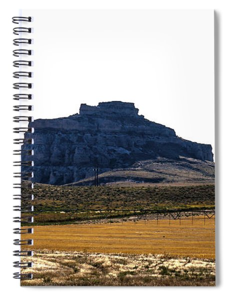 Spiral Notebook featuring the photograph Jailhouse Rock And Courthouse Rock by Edward Peterson