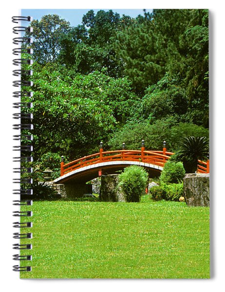 Japanese Garden Bridge 21m Spiral Notebook