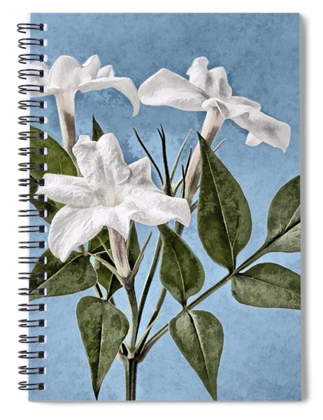Jasminum Officinale Spiral Notebook