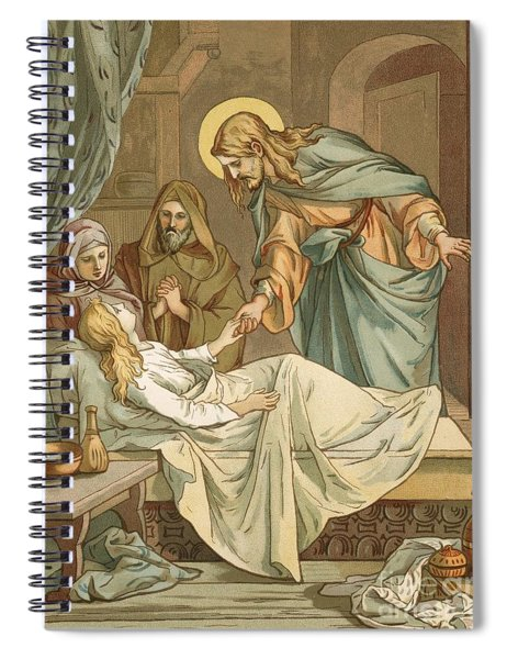 Jesus Raising Jairus's Daughter Spiral Notebook