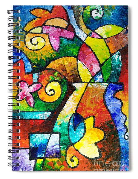 July Blooms Spiral Notebook