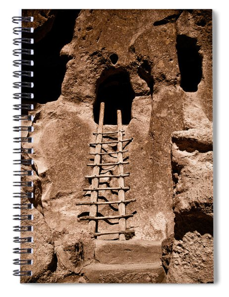 Bandelier National Monument, New Mexico - Ladder Face Spiral Notebook