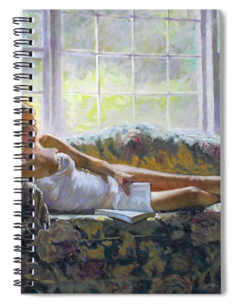 Lady With A Book Spiral Notebook