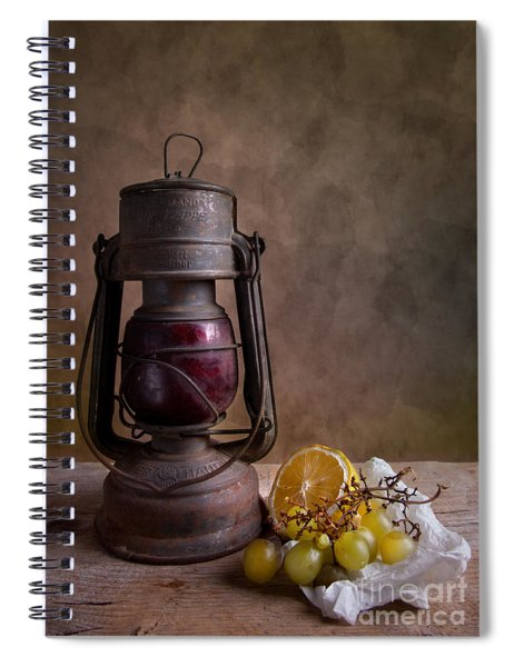 Lamp And Fruits Spiral Notebook