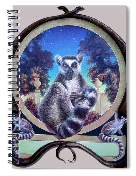 Zoofari Poster The Lemur Spiral Notebook
