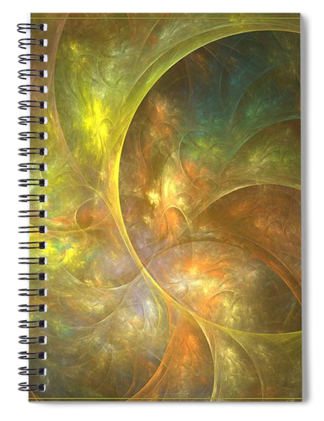 Life Of Leaf - Abstract Art Spiral Notebook