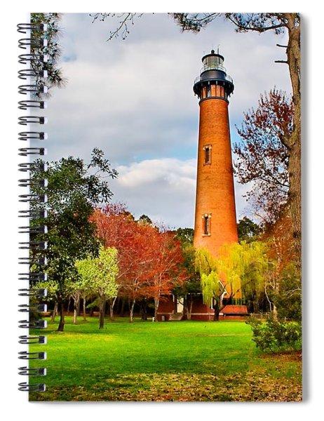 Lighthouse At Currituck Beach Spiral Notebook
