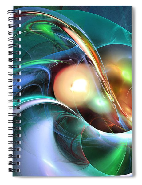 Limbo Of Oblivion Abstract Art Spiral Notebook