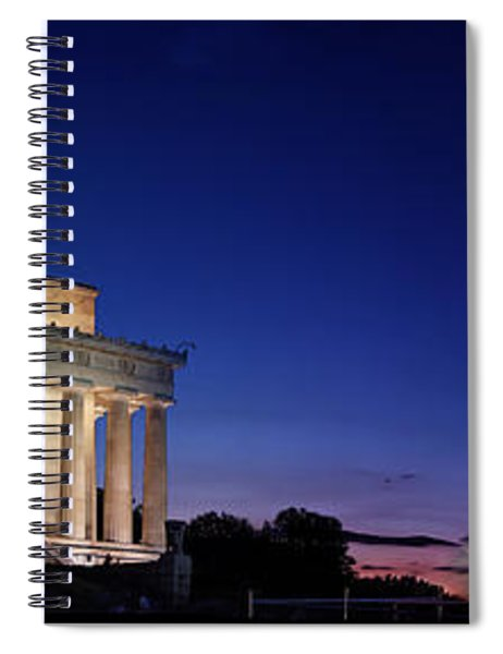 Lincoln Memorial At Sunset Spiral Notebook