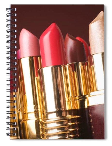 Lipstick Tubes Spiral Notebook