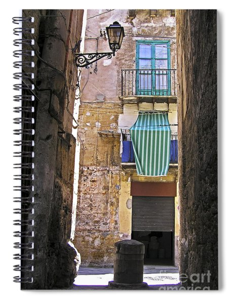 Little Street Of Palermo Spiral Notebook