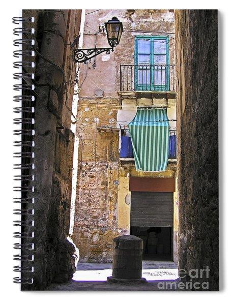 Little Street Of Palermo Spiral Notebook