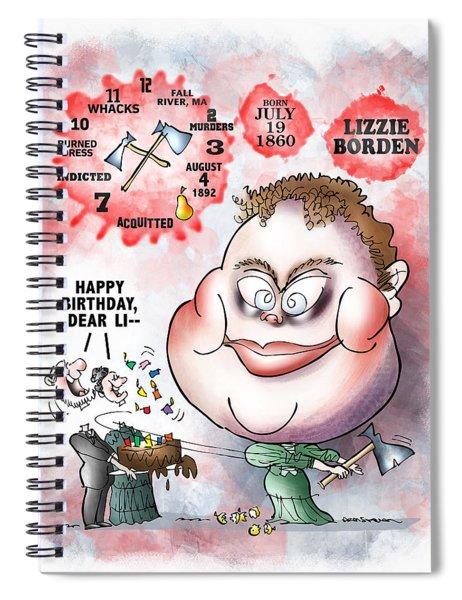 Lizzie Borden Spiral Notebook