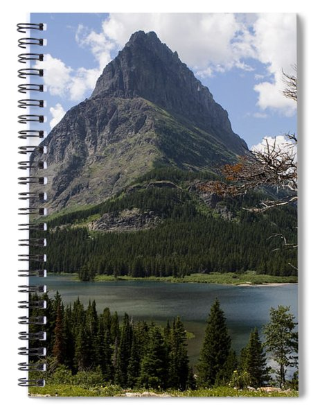 Spiral Notebook featuring the photograph Lone Tree At Sinopah Mountain by Lorraine Devon Wilke