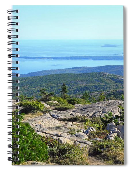 Looking Down The Ledge Spiral Notebook
