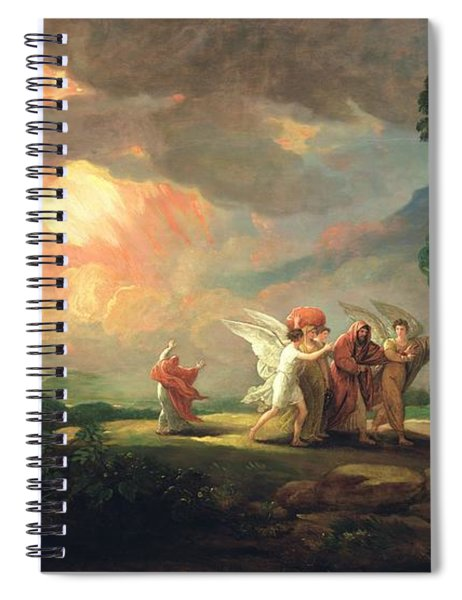 Lot Fleeing From Sodom Spiral Notebook