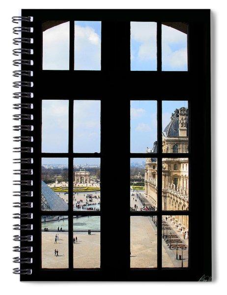 Louvre Window Spiral Notebook