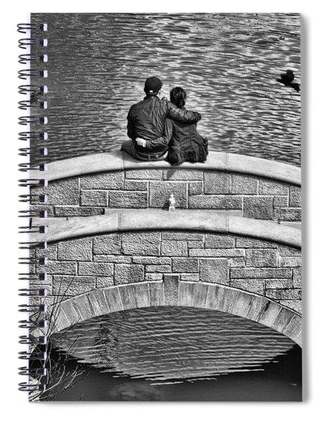 Lovers On A Bridge  Spiral Notebook