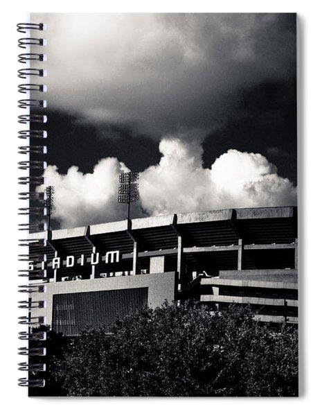 Lsu Tiger Stadium Black And White Spiral Notebook