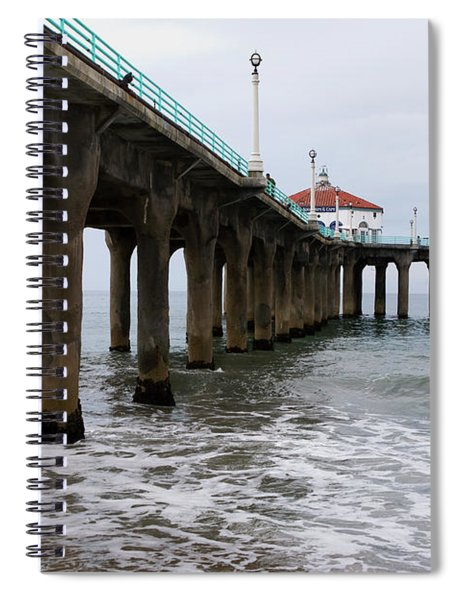 Spiral Notebook featuring the photograph Manhattan Beach Pier by Lorraine Devon Wilke