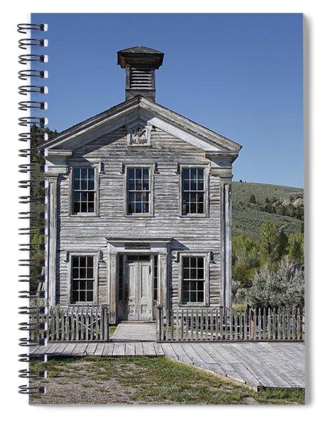 Masonic Temple 3 - Bannack Montana Spiral Notebook