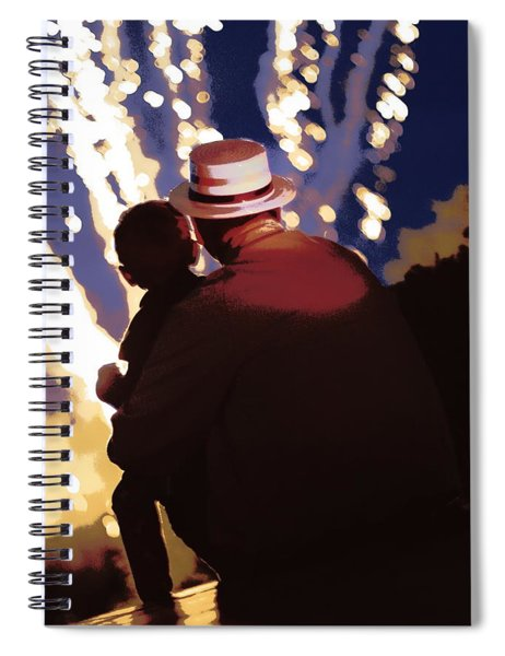 Me And Papa - 4th Of July Spiral Notebook