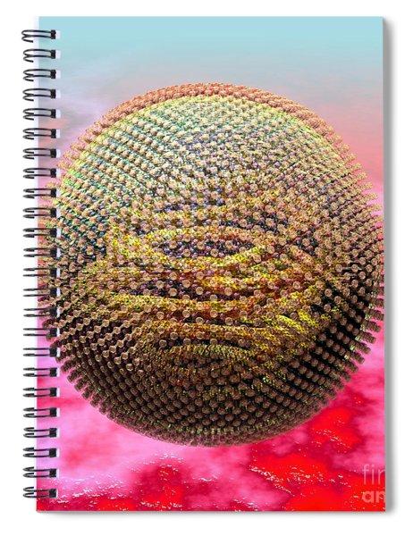 Measles Virus Spiral Notebook
