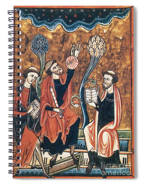 Medieval Astronomers With Astrolabe Spiral Notebook