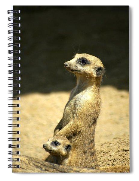 Meerkat Mother And Baby Spiral Notebook