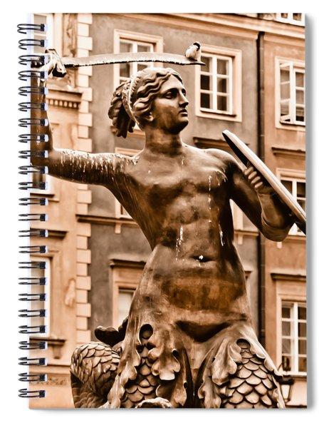 Warsaw, Poland - Mermaid Spiral Notebook