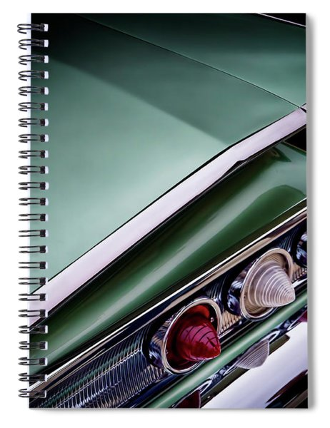 Metalic Green Impala Wing Vingage 1960 Spiral Notebook