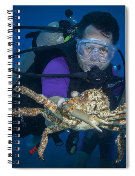 Mike And The Crab Spiral Notebook