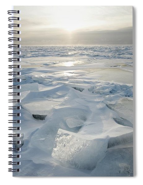 Minnesota, United States Of America Ice Spiral Notebook