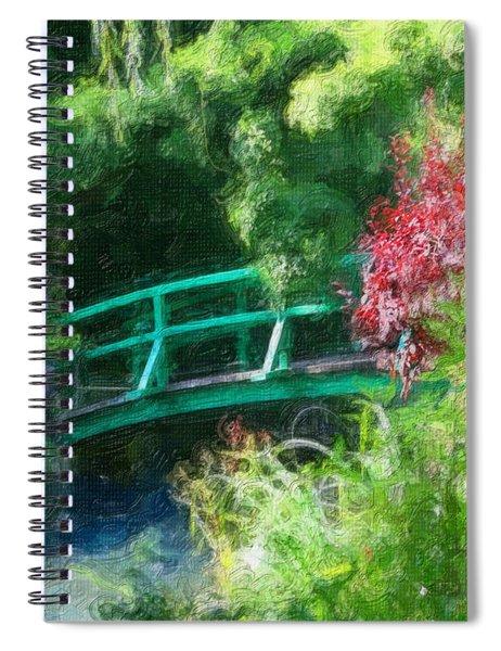 Monet's Garden Spiral Notebook
