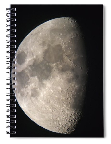 Moon Against The Black Sky Spiral Notebook
