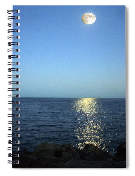 Moon And Water Spiral Notebook