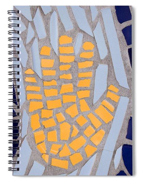 Mosaic Yellow Hand Spiral Notebook